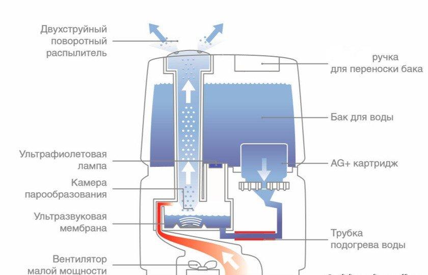 Схема работы ультразвукового устройства