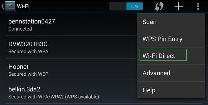 Wi-Fi Direct на Андроид