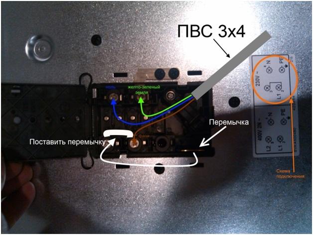 Подключить варочную панель к электросети