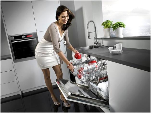 Запуск посудомоечной машиной