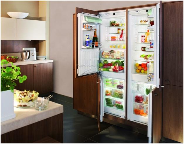 3. Встроенный холодильник