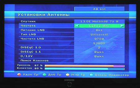 Настройка сигнала Триколор ТВ