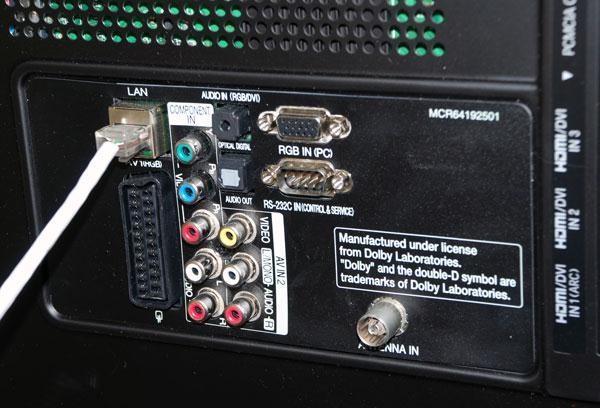 Звуковые гнезда телевизора