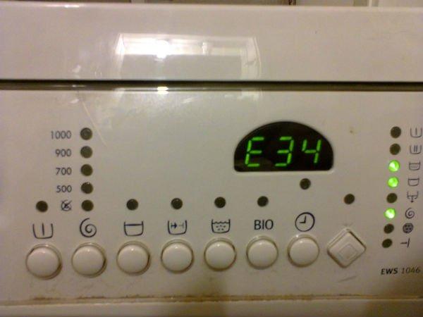код ошибки стиральной машины
