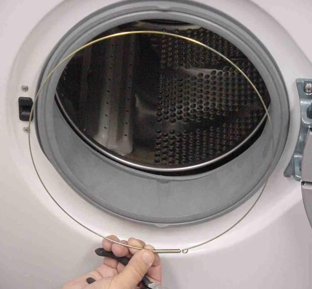Снятие резинки на стиральной машине