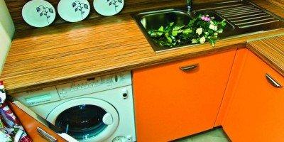 Кухонная мебел с стиральной машиной