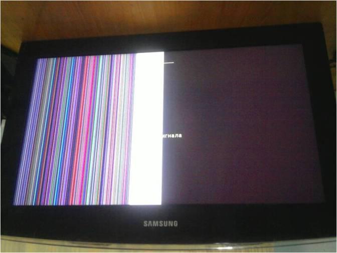 Поломка матрицы на телевизоре