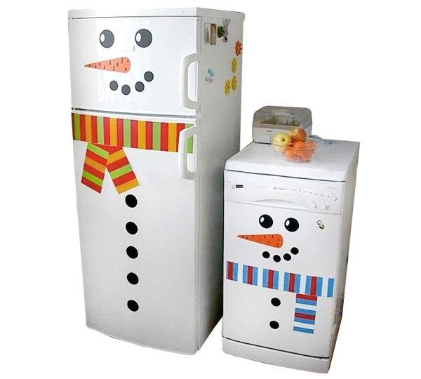 Украшение холодильника к Новому году