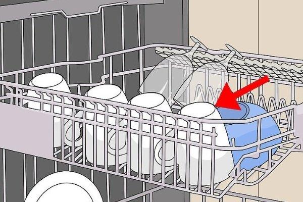 Размещение глубоких тарелок в посудомоечной машине
