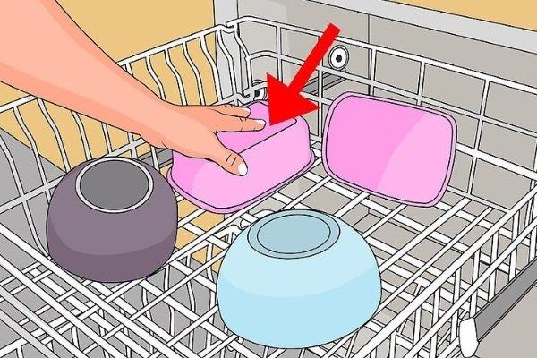 Мыть пластиковую посуду в посудомойке