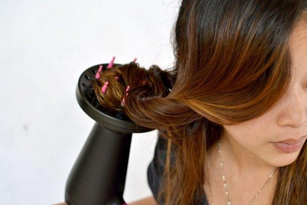 Укладка вьющихся волос диффузором