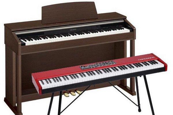 Пианино и синтезатор
