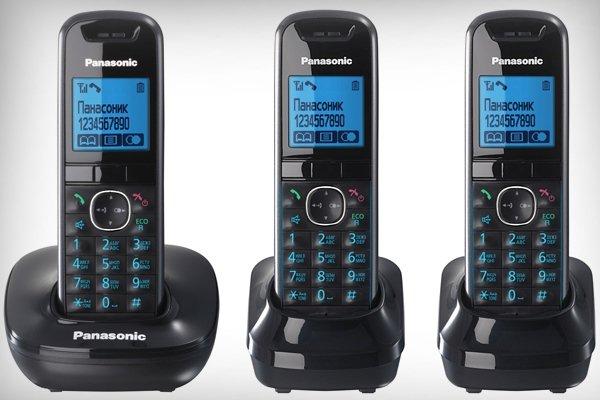 Беспроводной телефон с 3-мя трубками