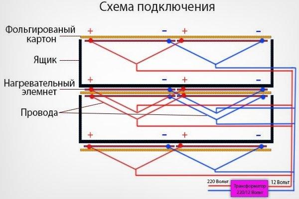 Схема подключения сушилки